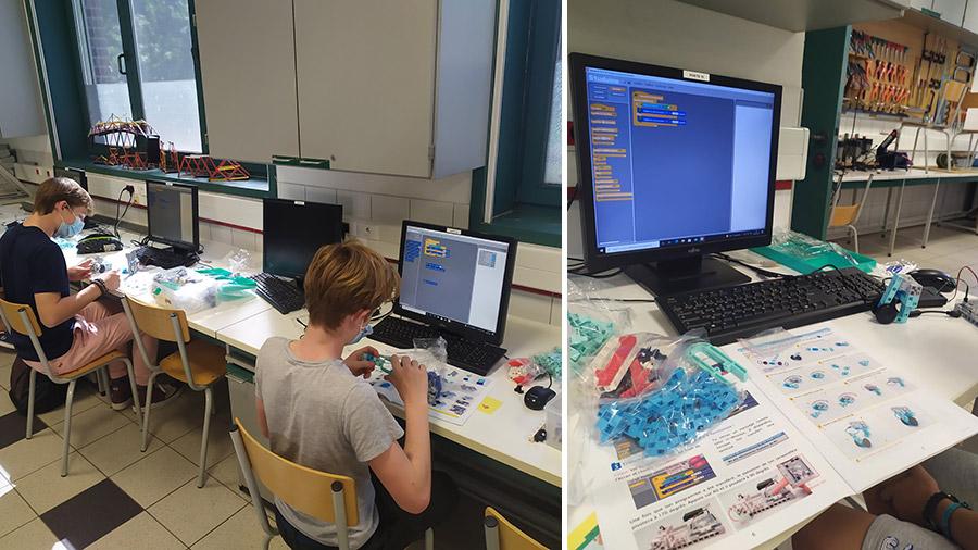 cours de programmation dans la salle informatique du collège de Marcq en Baroeul initiation au codage