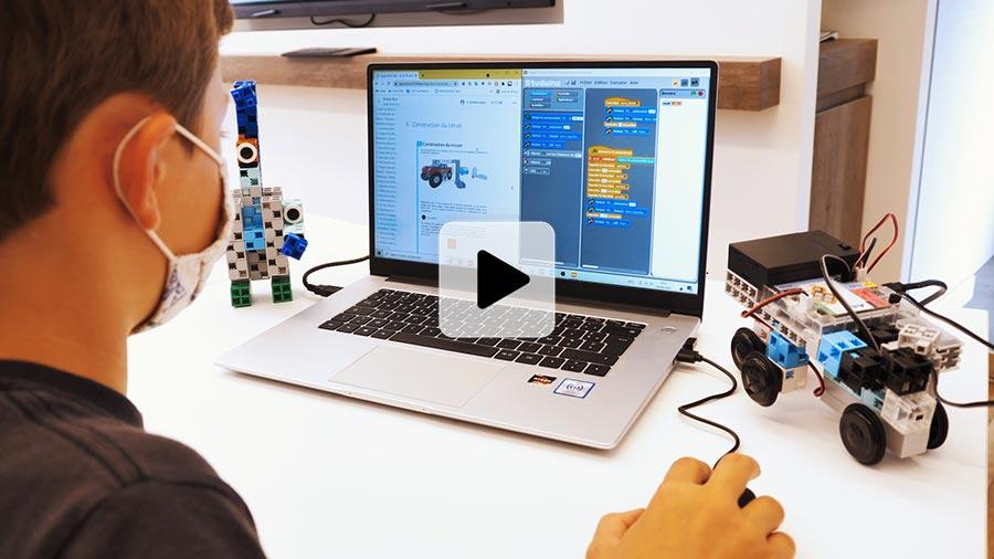 vidéo d'un atelier de programmation Algora avec la plateforme d'apprentissage