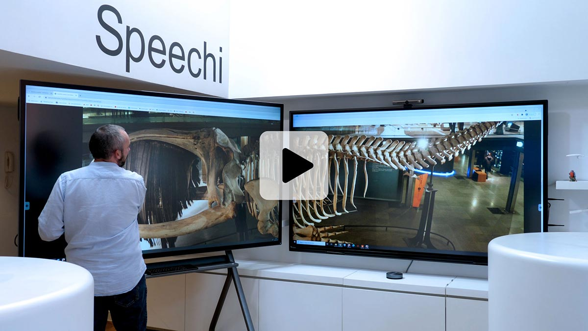 vidéo d'un écran interactif étendu
