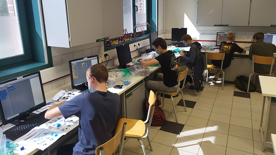 cours de programmation au collège de Marcq en Baroeul