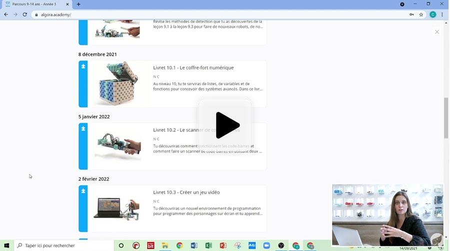 vidéo tuto : votre 1ère connexion sur la plateforme d'apprentissage Algora