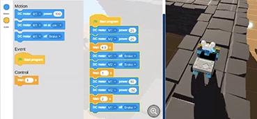 plateforme d'apprentissage de la programmation ludique avec robot virtuel