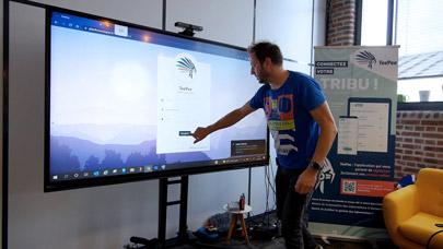 solution logicielle Teepee sur écran tactile interactif Android