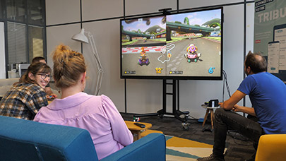 L'ENI comme une télé pour jouer aux jeux vidéo